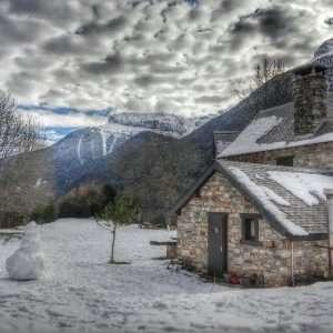 paisajes casas de zapatierno invierno nevado