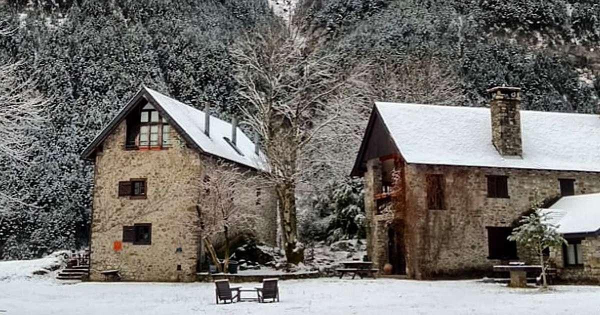paisajes casas de zapatierno invierno