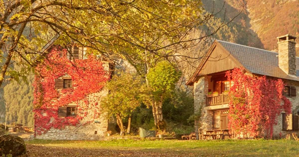 paisajes casas de zapatierno otoño